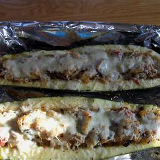 Baked Stuffed Zucchini.