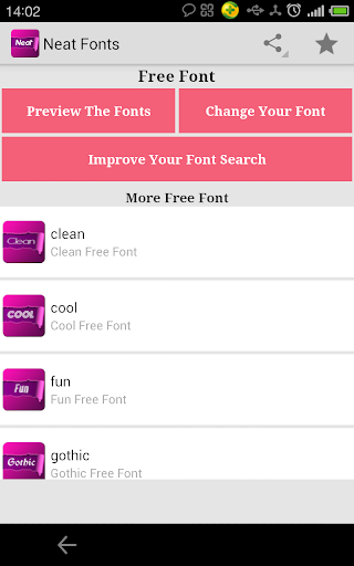 Free Neat fonts for FlipFont