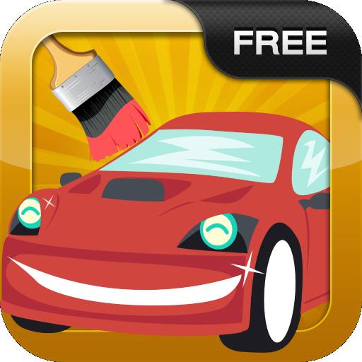 汽車著色遊戲 休閒 App LOGO-硬是要APP