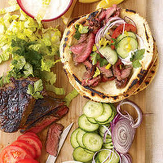 Sliced Steak Gyros.