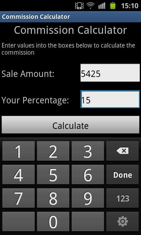 sales commision calculator
