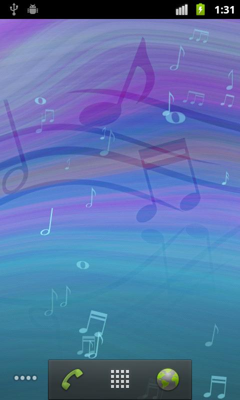 Melody Live Wallpaper - screenshot