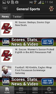 Boston College Athletics - screenshot thumbnail