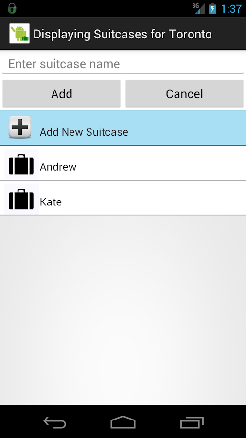 Luggage & Suitcase Checklist - screenshot