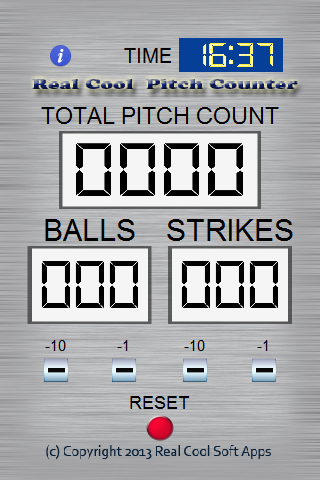 Real Cool Pitch Counter
