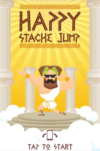 Happy Stache Jump