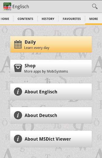 Dictionary GermanEnglish Tr