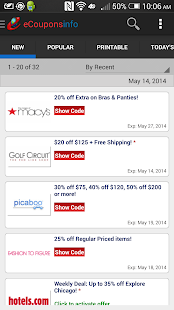 eCouponsinfo.com Coupons- screenshot thumbnail