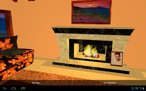 3D Romantic Fireplace Live Wallpaper HD- screenshot thumbnail