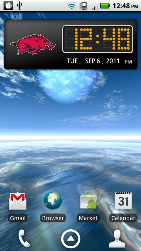 Arkansas Clock Widget - screenshot