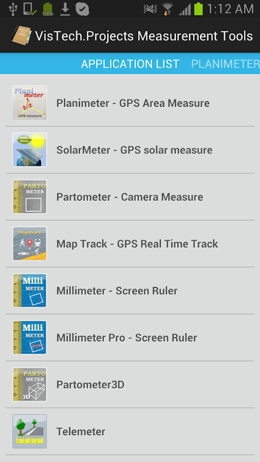 Measurement Tools Catalog- screenshot