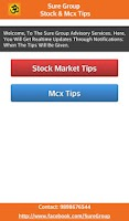 Screenshot of Sure Group : Stock & Mcx Tips