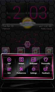 Pink Blend Next launcher - screenshot thumbnail