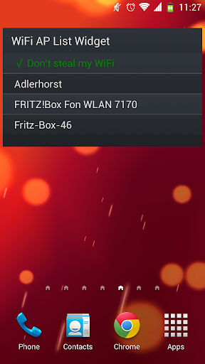 WiFi AP List Widget