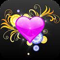 NEON HEART ♥ GO LAUNCHER logo