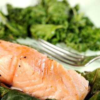 Salmon Wrapped in Fig Leaves.