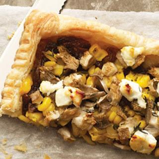 Oyster Mushroom and Corn Tart