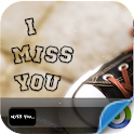 Miss you iphone lock screen logo
