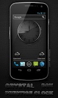 Screenshot of Glass clock. widget. BOX. PRO