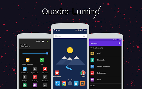 Quadra-Lumino CM12 Theme v1.0