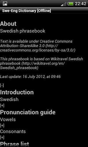 Swedish-English Dict. Donate
