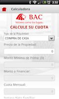 Screenshot of VIVIENDA BAC