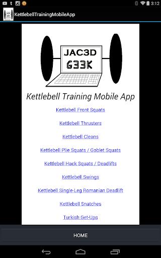 G33K's Kettlebell Tablet App