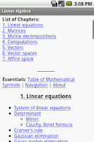 Screenshot of Linear Algebra Study Guide