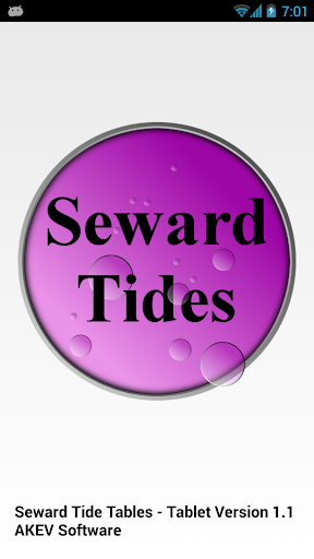 Seward Tide Tables Tablet
