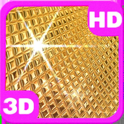 Amazing Golden Disco Ball 3D