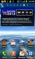 Screenshot of Election 2012 Countdown Dem