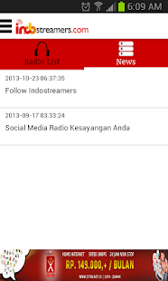 Indostreamers Radio Streaming- screenshot thumbnail