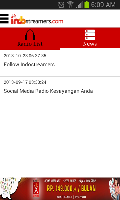 Indostreamers Radio Streaming- screenshot
