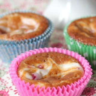 Raspberry and Cream Swirled Pumpkin Muffins.