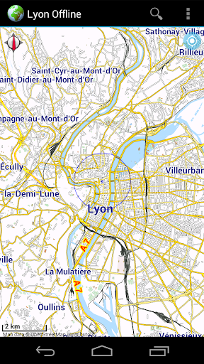 Offline Map Lyon France