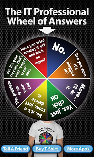 IT Pro Wheel Of Answers
