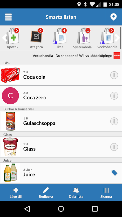 List to you - Shopping list - screenshot