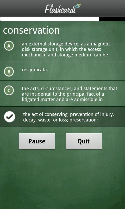 Dictionary.com Flashcards- screenshot