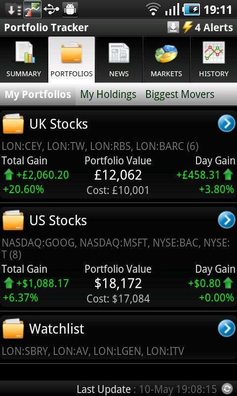 Portfolio Tracker (Stocks)- screenshot