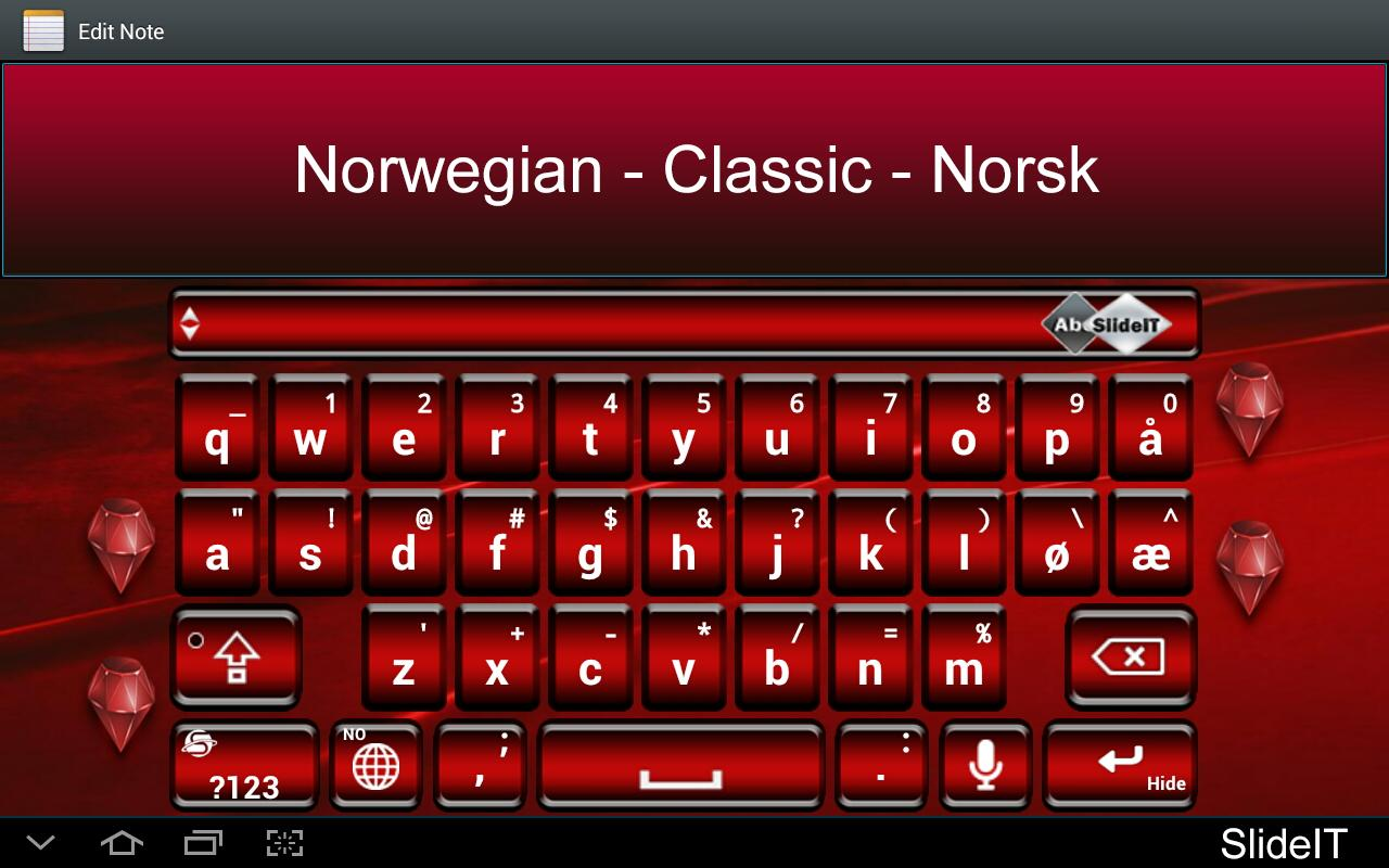 SlideIT Norwegian Classic Pack - screenshot