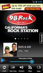 98 Rock California - screenshot thumbnail