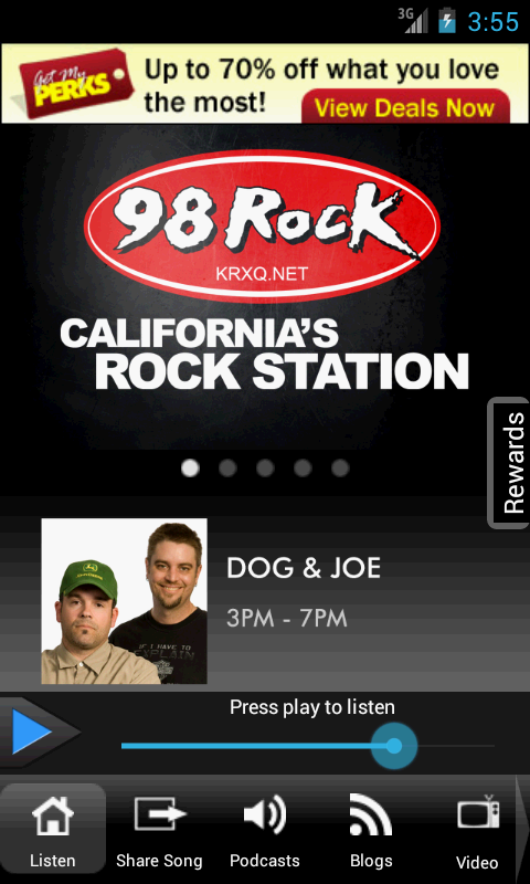 98 Rock California- screenshot