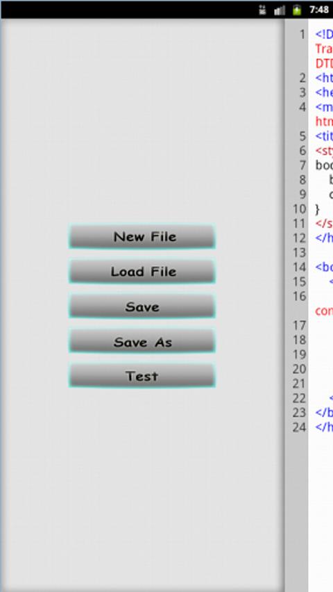 Dividet HTML Editor Lite- screenshot