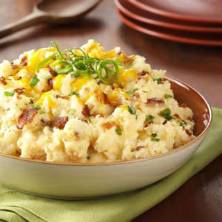 Slow Cooker Loaded Mashed Potatoes.