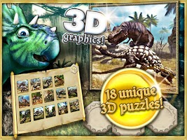 Screenshot of Dino hunters puzzles for kids