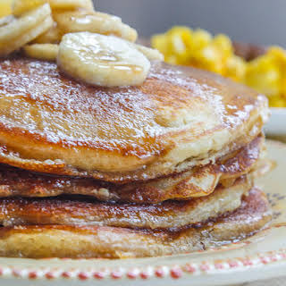 Excite Your Mornings Buttermilk Banana Pancakes.