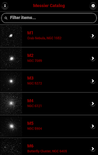 Messier Catalog - Astronomical - screenshot thumbnail