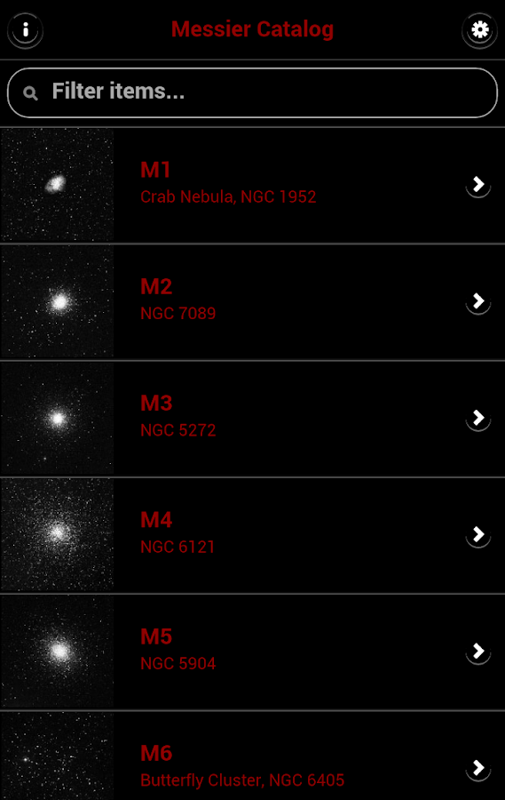 Messier Catalog - Astronomical - screenshot