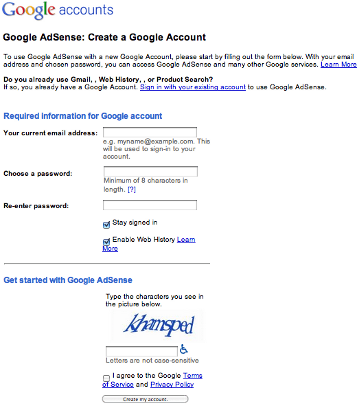 how to make a application form google