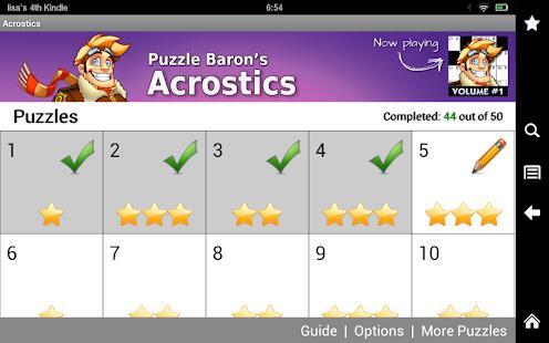 Acrostics Crossword Puzzles- screenshot thumbnail
